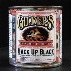 Gilders Gold Leaf Back Up Paint 1/2 Pint - Black